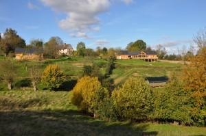 Vue d'ensemble de l'arbre aux étoiles, ecolodge et spa vers Honfleur en Normandie