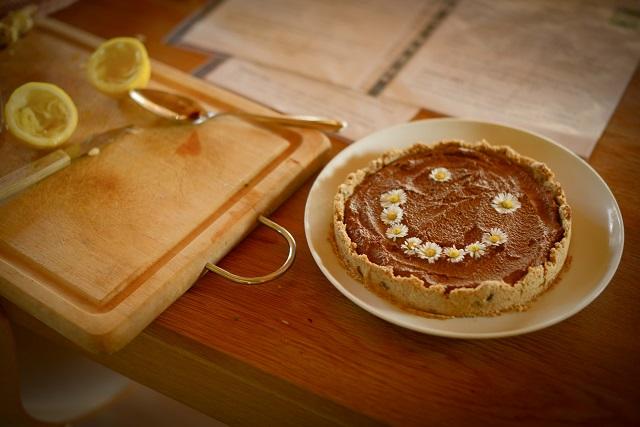 tarte crue au chocolat